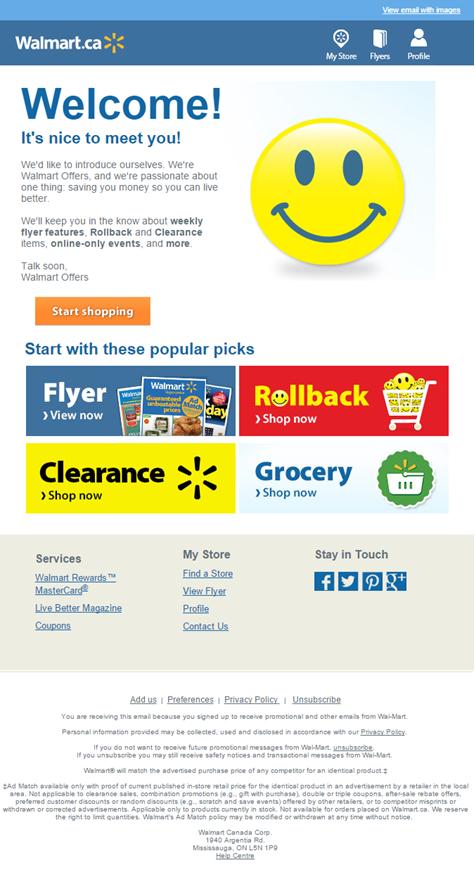 Walmart contenu