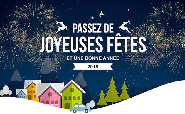 Passez de joyeuses fêtes et une bonne année 2018