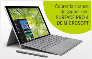 Courez la chance de gagner une Surface Pro 4 de Microsoft