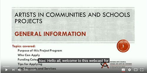 Image of the webcast