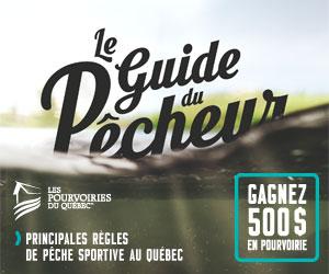 Page couverture du Guide du pêcheur 2017.