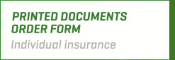 Order Form - Individual Insurance